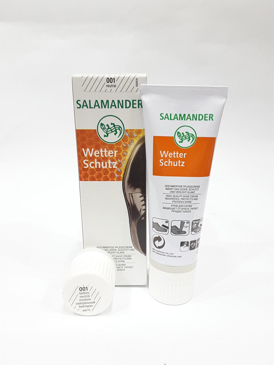 Крем для обуви бесцветный Salamander Wetter Schuts