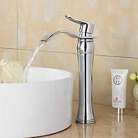 Современный распространенный водопад с керамическим клапаном одной ручкой одно отверстие для хрома, ванной раковина смеситель 05329365