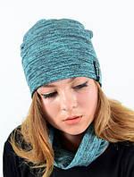 Яркий модный комплект из шапки и хомута