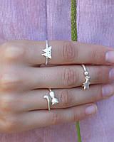 Бабочка - серебряное кольцо 925 пробы