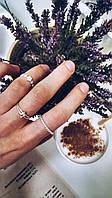 Цветочки - серебряное кольцо 925 пробы