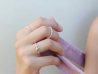Кардиограмма - серебряное кольцо 925 пробы
