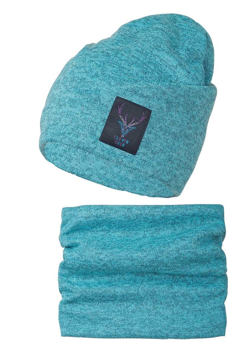 Теплый и комфортный набор Clever Deer, шапка и шарф - хомут