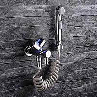 Современный На стену Вытяжной смеситель with  Керамический клапан Одной ручкой Два отверстия for  Хром , Биде кран 05381937