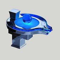 Современный Настольная установка Светодиодная лампа / Водопад with  Керамический клапан  Одной ручкой одно отверстие for  Хром , Ванная 04880976