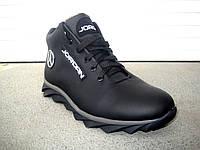 Зимние кожаные мужские кроссовки JORDAN, фото 1