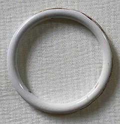 Кольцо обычное д. 25 мм, белое золото