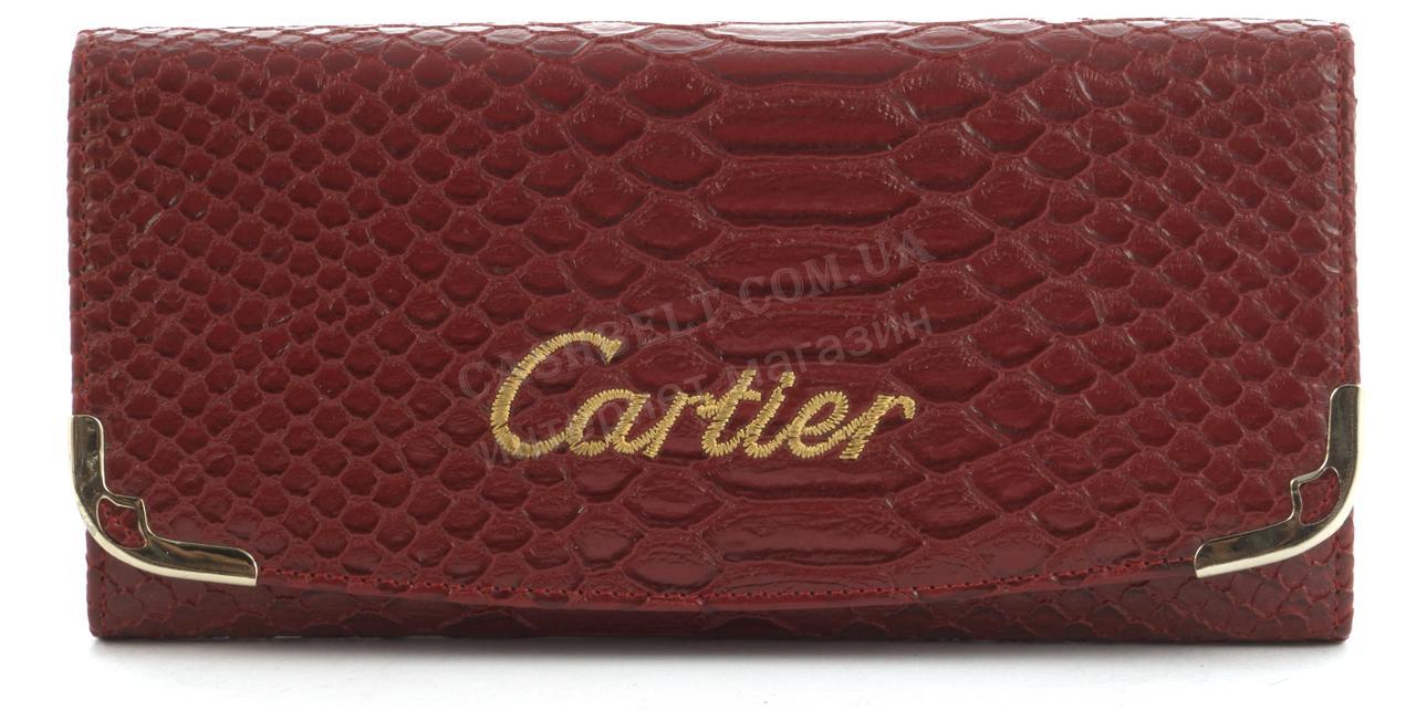 546f69377dc8 Красный стильный оригинальный женский кошелек под рептилию CARTIER art.  2002 красный