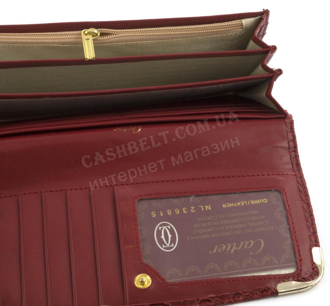 26f987e6841f 2002 красный, фото 4 Красный стильный оригинальный женский кошелек под  рептилию CARTIER art.