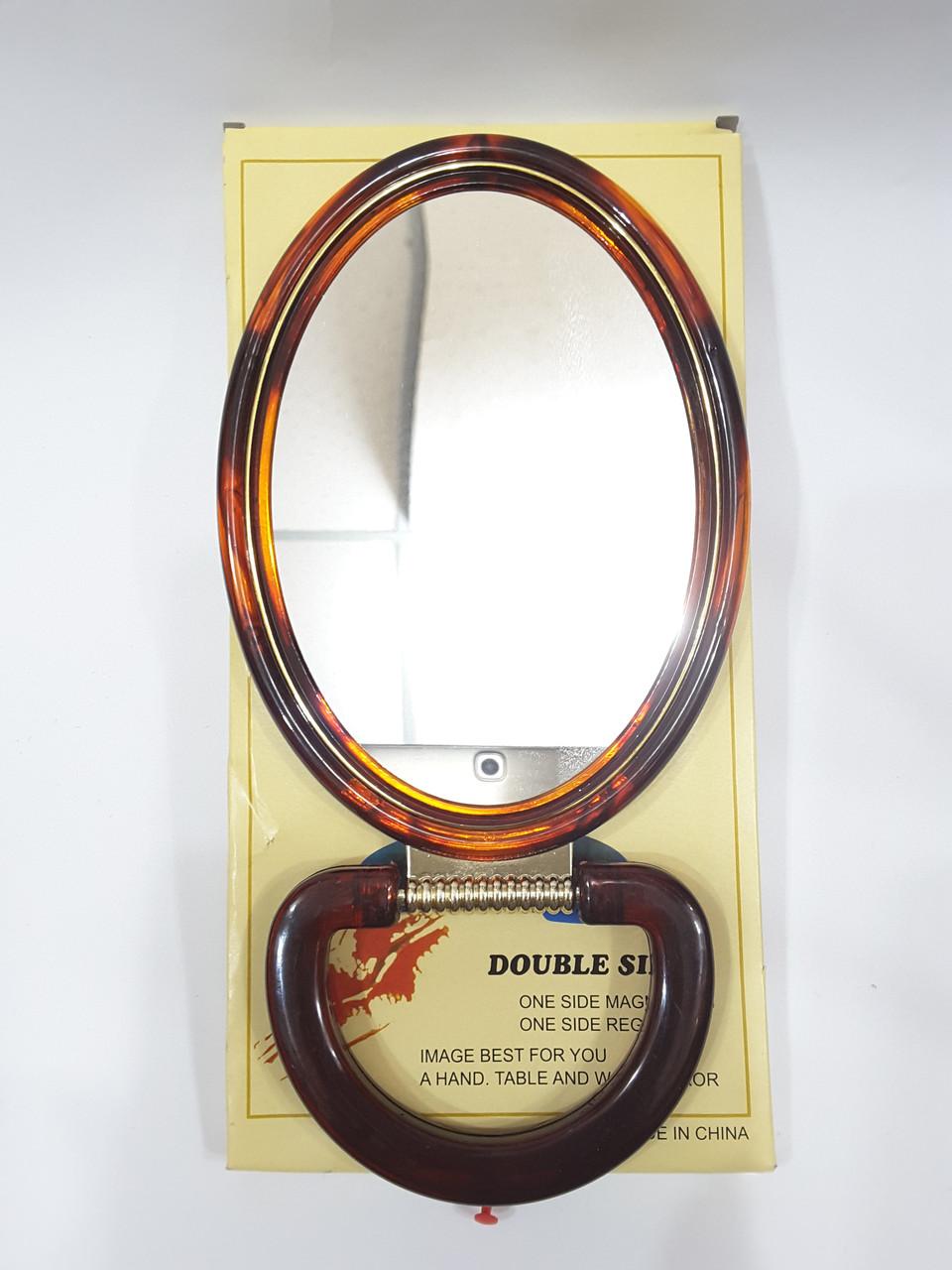 Дзеркало настільне овальне двостороннє 18 см