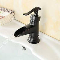 Традиционный водопад Центровой с керамическим клапаном одной ручкой одно отверстие для протирают маслом бронзы, кран раковины ванной комнаты 05322863