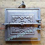 Дверца чугунная (330х360 мм) грубу, печи, мангал, барбекю, фото 3