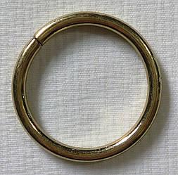 Кольцо обычное д. 25 мм, золото