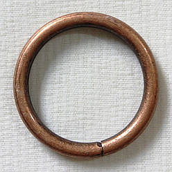 Кольцо обычное д. 25 мм, медь античная