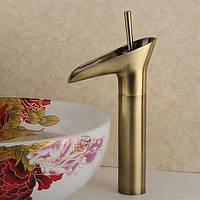 Античный водопад Центровой с керамическим клапаном одной ручкой одно отверстие для, ванной раковина смеситель 05336925