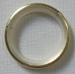Кольцо тихое д. 25 мм, золото