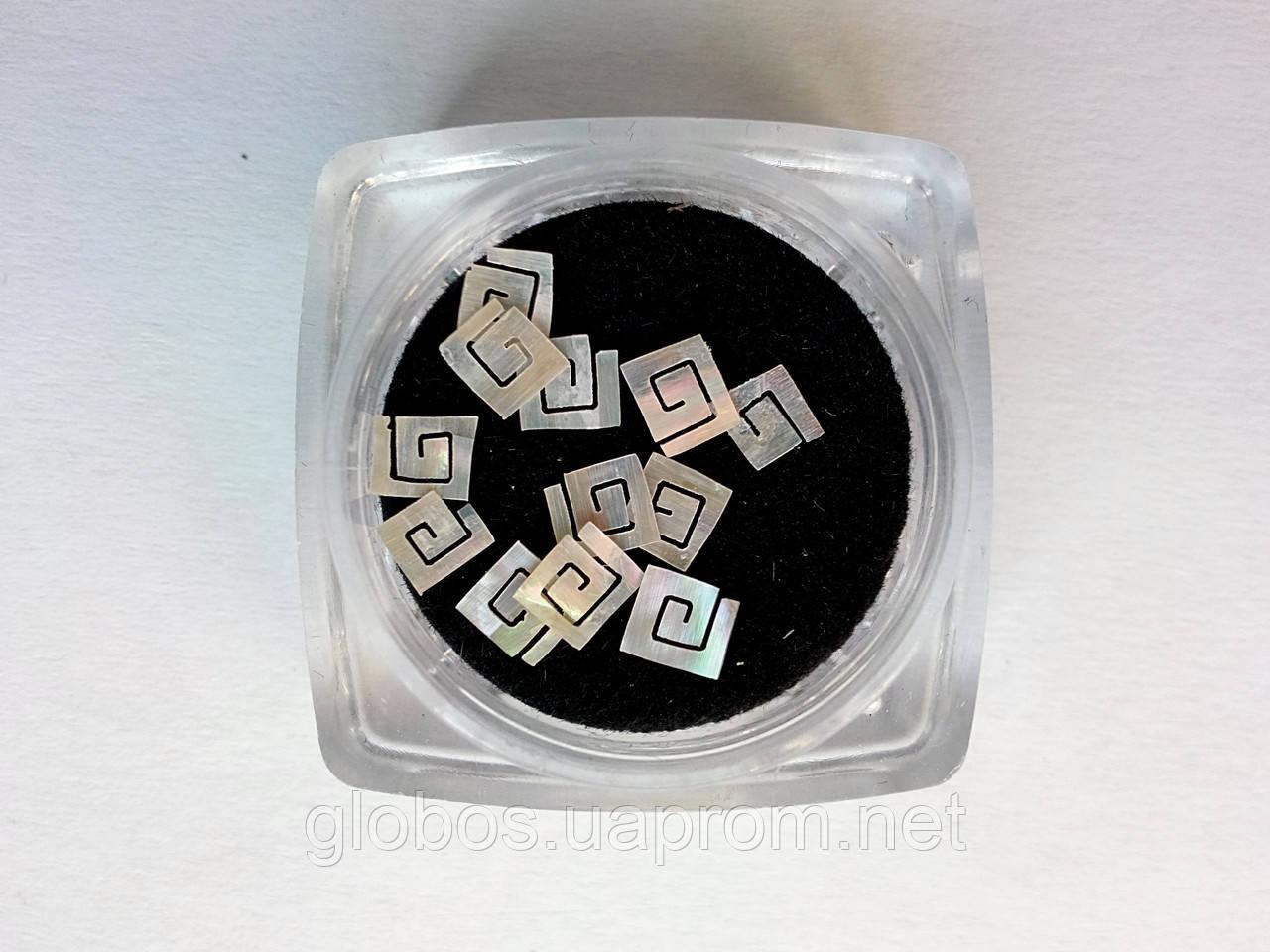 Фигурки перламутровые, ракушка, для аквариумного дизайна ногтей RENEE  IM 02-01