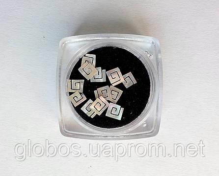 Фигурки перламутровые, ракушка, для аквариумного дизайна ногтей RENEE  IM 02-01, фото 2