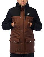 Парка (Зима) «Windproff» -черный- коричневый
