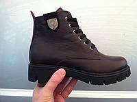 Ботинки женские кожаные зимние код 354