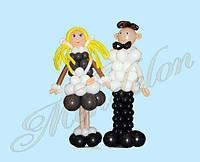 Школьники из шаров мальчик и девочка