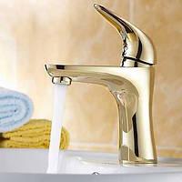 Античный По центру Керамический клапан Одно отверстие for  Матовый , Смеситель для ванны Ванная раковина кран Биде кран кухонный смеситель 01255356