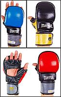 Перчатки гибридные для единоборств MMA кожаные MATSA (р-р L-XL)