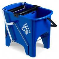 Ведро для уборки с отжимом Скьюзи 15л синее