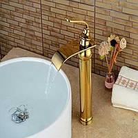 Современный По центру Водопад with  Керамический клапан Одной ручкой одно отверстие for  Титан с влогоотталкивающим покрытием , Ванная 05599616