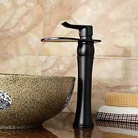 Ванной раковина смеситель с античный шар отделки водопад Центровой кран 05336915