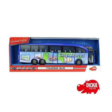 Автобус Туристический  синий 1:43 Dickie 3745005, фото 2