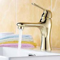 Античный По центру Керамический клапан Одно отверстие for  Матовый , Смеситель для ванны Биде кран кухонный смеситель Ванная раковина кран 01253944