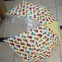 Зонт трость силикон Птички