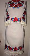 Платье женское вышитое с дорогим мереживом