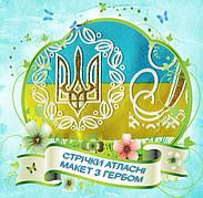 Випускник 2020 (з Гербом) стрічка атласна з глітером та обводкою (укр.мова)
