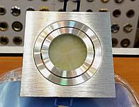 Встраиваемый светильник Feron DL6120 HI-Tech алюминиевый квадратный поворотный