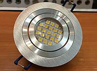 Встраиваемый светильник Feron DL6110 серебро (поворотный круг)