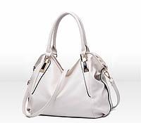 Вместительная женская сумка Белая