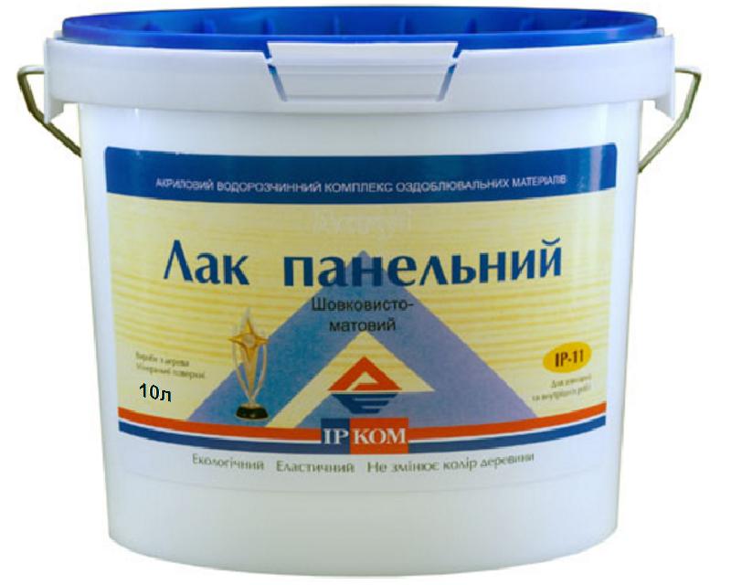 Лак акриловый ІРКОМ ПАНЕЛЬНИЙ ІР-11 полуматовый 10л