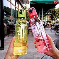 Пластиковая спортивная бутылка для воды 650 мл.
