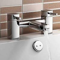 Современный Римская ванна Установка на полу with  Керамический клапан  Две ручки двумя отверстиями for  Хром , Смеситель для ванны 04454238