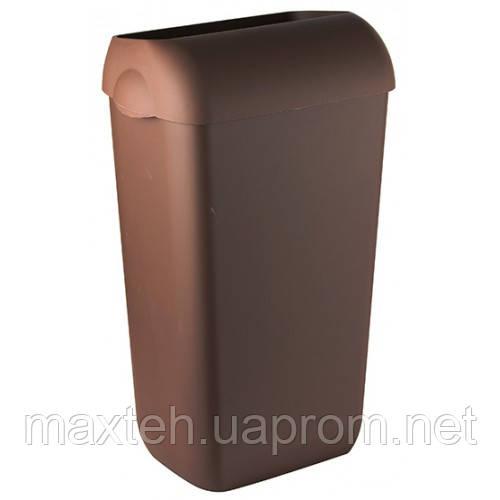 Престо Урна 23 литра с крышкой-ободом коричневая