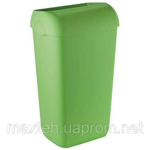 Престо Урна 23 литра с крышкой-ободом салатовая