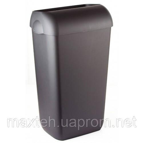 Престо Урна 23 литра с крышкой-ободом черная