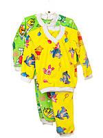 Пижама махровая Желтый, 26