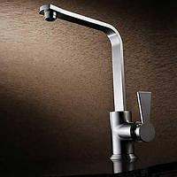 Современный дизайн Матовый никель правоугольный Повышение Смеситель для кухни 00854354