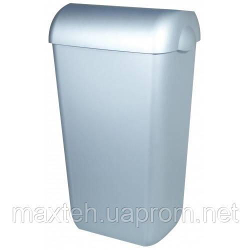 Престо Урна 23 литра с крышкой-ободом серебристая