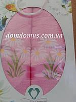 """Подарочный набор полотенец """"Ромашка"""" TWO DOLPHINS, Турция розовый"""