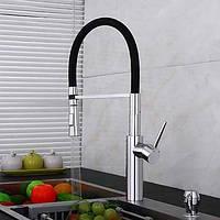Палубные выдвижных распылителей / предварительно промыть клапан керамический одной ручкой одно отверстие для хрома, смеситель для кухни 05343877