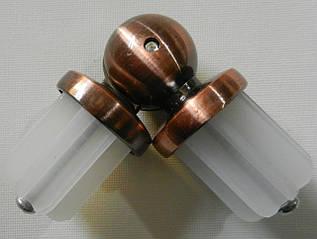 Соединитель угловой д. 25 мм, медь античная